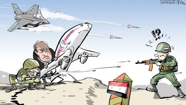 Israël mène des frappes aériennes et utilise un avion de ligne comme bouclier - Sputnik France