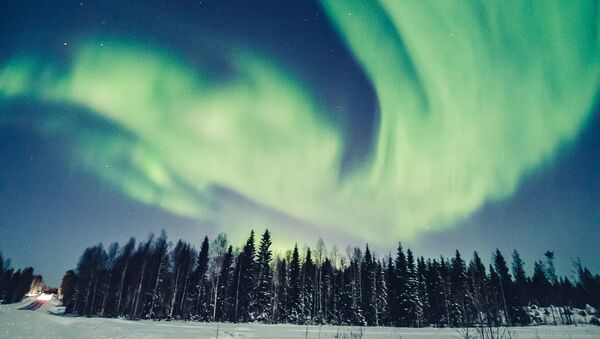 La magie des aurores boréales en Laponie  - Sputnik France