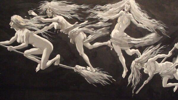 Eugène Frey, Études pour les décors lumineux de la Damnation de Faust/ Mefistofele, ca. 1905  - Sputnik France