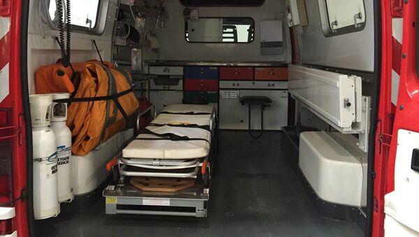 Intérieur d'un véhicule de secours - Sputnik France