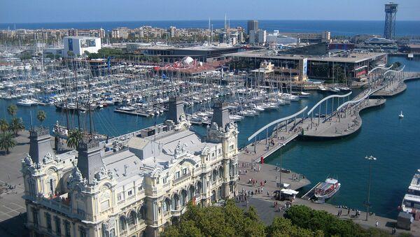 Barcelona, view of the Rambla de Mar from Columbus monument - Sputnik France