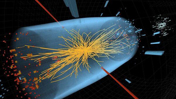 Collision de protons dans l'accélérateur de particules du Centre européen de recherche nucléaire (CERN) - Sputnik France
