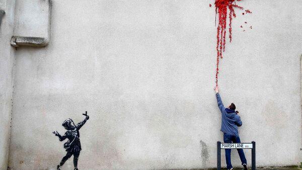 Un Banksy réalisé à Bristol pour la Saint-Valentin - Sputnik France