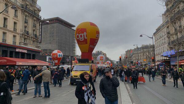 Manifestation contre la réforme des retraites à Paris, 20 février 2020 - Sputnik France