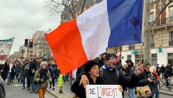 Manifestation contre la réforme des retraites à Paris, le 20 février 2020 - Sputnik France