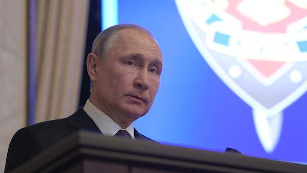 Vladimir Poutine participe à une réunion du collège du FSB, le 20 février 2020 - Sputnik France