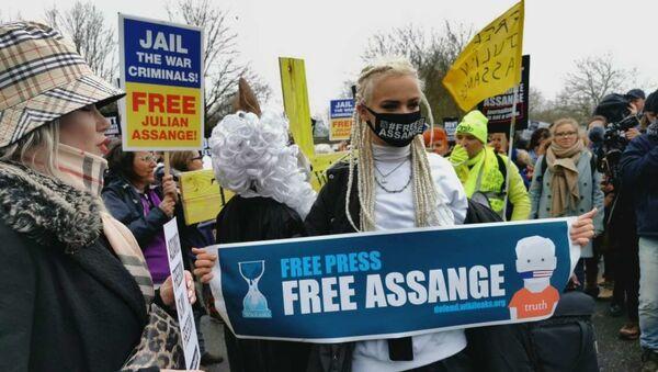 Manifestation des partisans de Julian Assange à Londres - Sputnik France