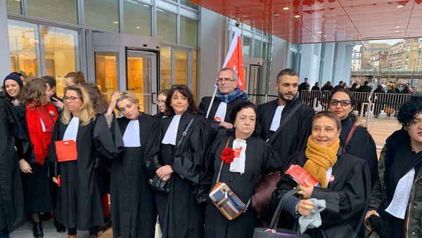 Des avocats en grève contre la réforme des retraites, le 24 février 2020 - Sputnik France