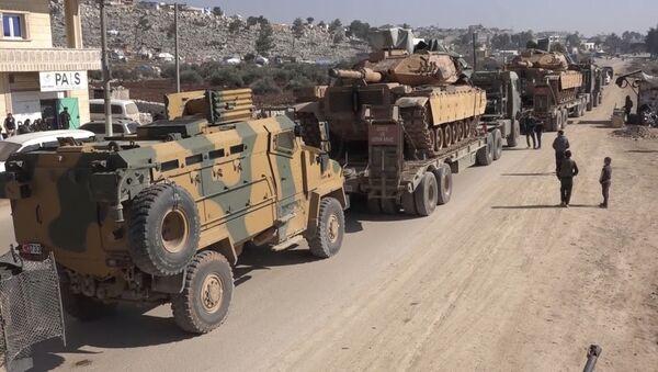 des militaires turcs dans le gouvernorat d'Idlib, le 2 février 2020 (image d'archive) - Sputnik France
