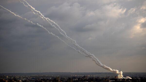 Tir de roquettes depuis la bande de Gaza, archives - Sputnik France