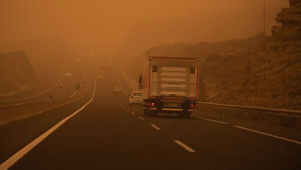 Les Canaries sous l'emprise d'une tempête de sable venue du Sahara  - Sputnik France