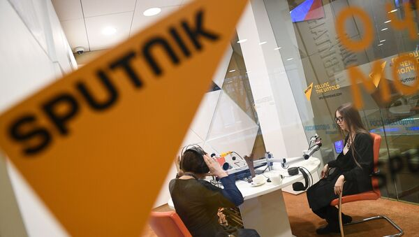 Estúdio da Rádio Sputnik - Sputnik France