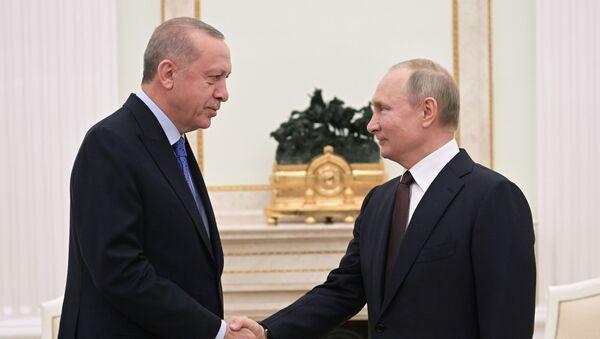 Vladimir Poutine et Recep Tayyip Erdogan, le 5 mars 2020 à Moscou - Sputnik France