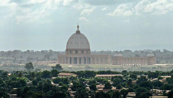 Basilique de Yamoussoukro (Côte d'Ivoire), vue de l'Institut Houphouët Boigny pour la paix - Sputnik France
