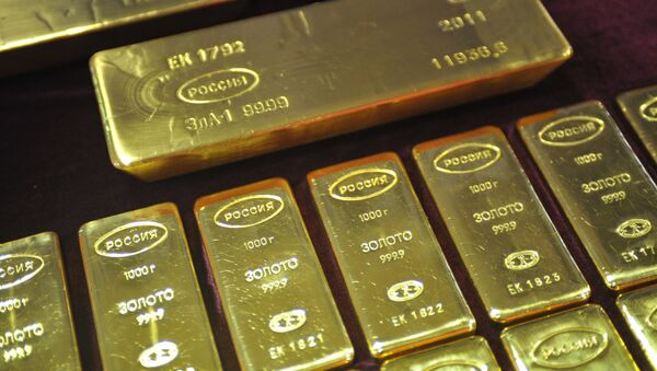 Lingots d'or fabriqués en Russie (archive photo) - Sputnik France
