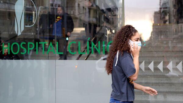Une rue de Barcelone pendant l'épidémie de coronavirus (archive photo) - Sputnik France