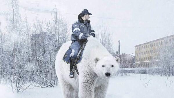 Une promenade d'un dinosaure et un policier à dos d'un ours: Saint-Pétersbourg dans l'imagination d'un artiste russe    - Sputnik France