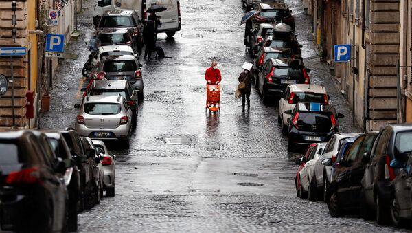 Une rue déserte de Rome pendant l'épidémie de coronavirus (archive photo) - Sputnik France