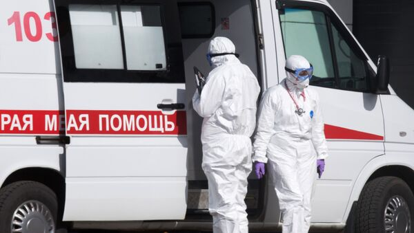 L'hôpital de Kommunarka où sont prises en charge des personnes contaminées par le coronavirus - Sputnik France