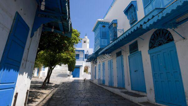 Les ruelles du village de Sidi Bou Said (Tunisie) pendant le confinement. - Sputnik France