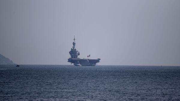 Le porte-avions Charles-de-Gaulle accoste à Toulon  - Sputnik France