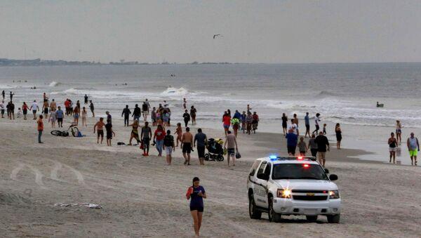 Une plage de Jacksonville, le 18 avril 2020 - Sputnik France