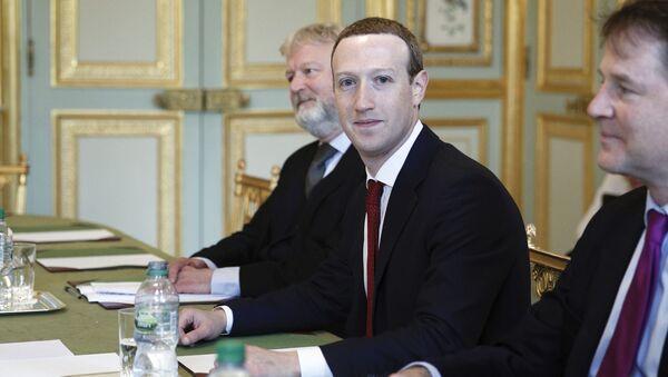Mark Zuckerberg, le président-fondateur de Facebook, reçu à l'Élysée - Sputnik France
