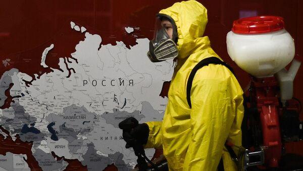 Désinfection des gares à Moscou - Sputnik France