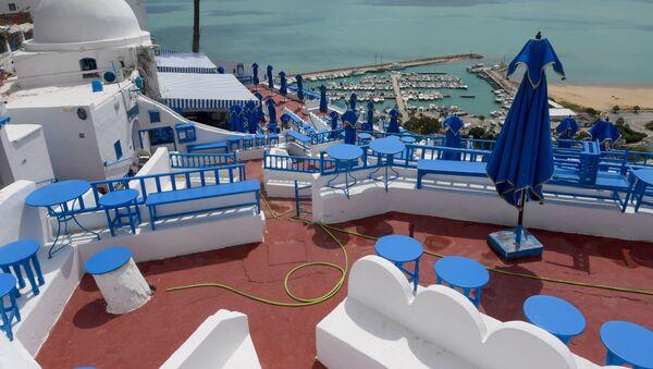 Les hôtels et les cafés sont vides dans le village touristique de Sidi Bou Saïd, Tunisie. - Sputnik France