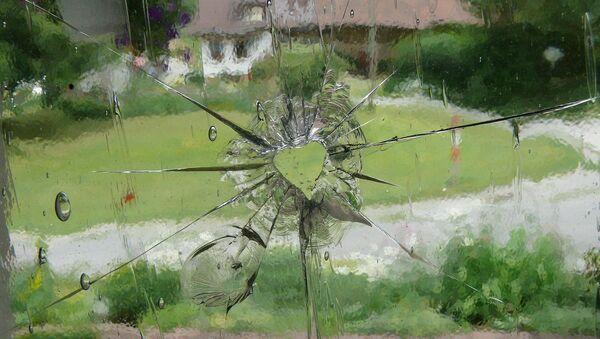 Un trou de balle dans une vitre - Sputnik France