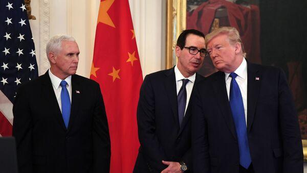 Donal Trump à la Maison-Blanche en janvier 2020. - Sputnik France