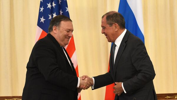 Sergueï Lavrov et Mike Pompeo - Sputnik France