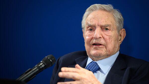 George Soros au forum de Davos en janvier 2020 (illustration). - Sputnik France