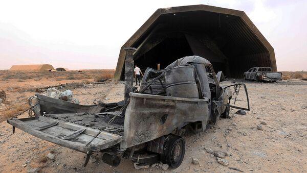 Les forces du GNA ont repris le contrôle de la base aérienne stratégique al-Watiya située à 140 km à l'ouest de Tripoli, le 18 mai 2020. - Sputnik France
