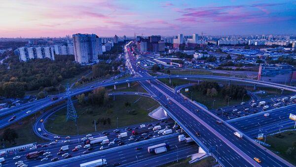 L'avenue Kachirskoïe (A-105) et l'autoroute périphérique de Moscou - Sputnik France