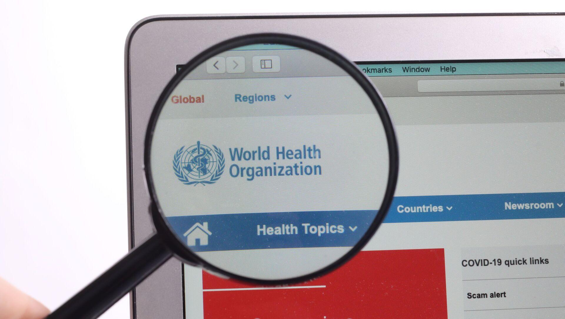 Le site internet de l'Organisation mondiale de la santé (OMS) - Sputnik France, 1920, 30.08.2021