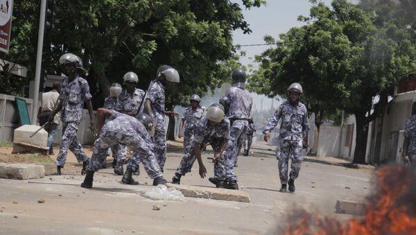 Les forces de l'ordre togolaises en action, au cours d'une manifestation. - Sputnik France