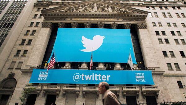 Le logo Twitter sur le New York Stock Exchange - Sputnik France