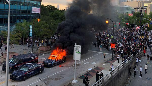 Le CNN Center à Atlanta lors des manifestations du 29 mai - Sputnik France