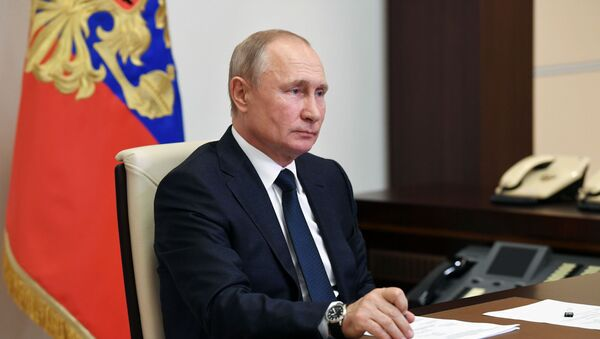 Vladimir Poutine lors d'une réunion organisée en visioconférence le 1er juin 2020 - Sputnik France