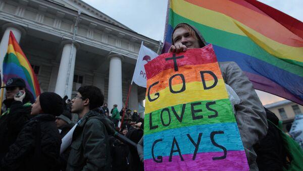 Un défilé en soutien aux LGBT à Saint-Pétersbourg - Sputnik France