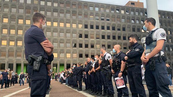 Action des policiers devant les commissariats, le 11 juin / image d'illustration - Sputnik France