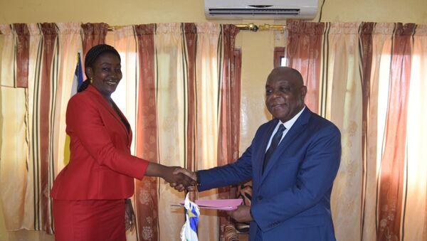 Rencontre entre la Présidente de l'AFESMICA et le Ministre des Mines de la RCA - Sputnik France