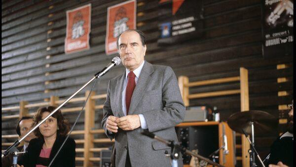 François Mitterrand tenant une réunion publique (Strasbourg, 1er mai 1979). - Sputnik France