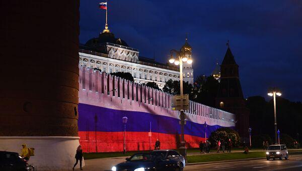 Le Kremlin de Moscou illuminé à l'occasion du Jour de la Russie - Sputnik France