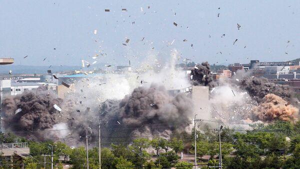 La démolition par la Corée du Nord du bureau de liaison intercoréen situé sur son sol, le 16 juin 2020 - Sputnik France