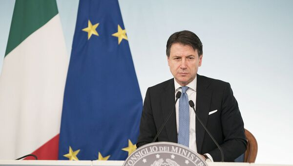 Le chef du gouvernement italien Giuseppe Conte  - Sputnik France