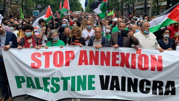 Manifestation en soutien de la Palestine à Paris, 27 juin 2020 - Sputnik France
