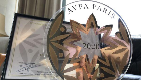Dans la catégorie L'es huiles du monde, AVPA a descerné le prix à Biolio, pour son huile de pépins de coiurge - Sputnik France