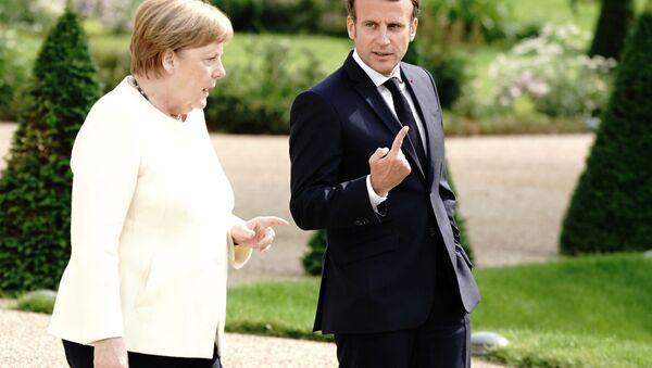 Macron et Merkel en Allemagne - Sputnik France